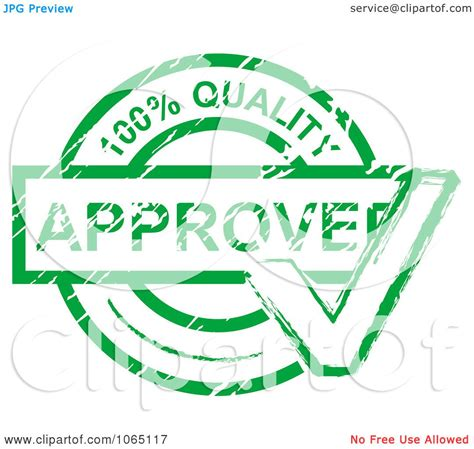 quality clipart clipart green quality approved st royalty free vector