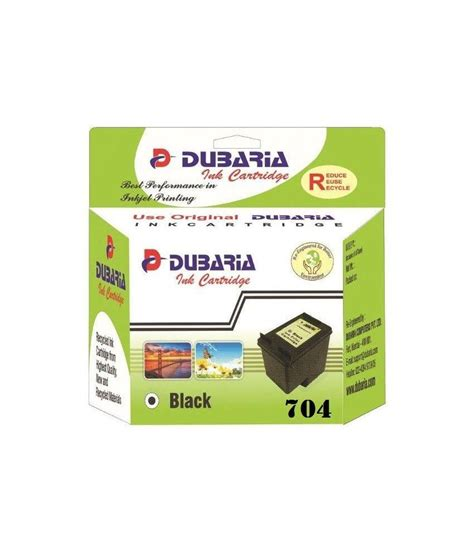 Ink Hp 704 Black dubaria 704 black ink cartridge compatible for hp 704