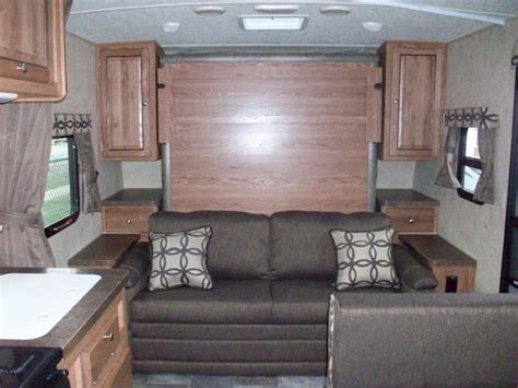 travel trailer with murphy bed flagstaff micro lite 23lb murphy bed bunkhouse travel