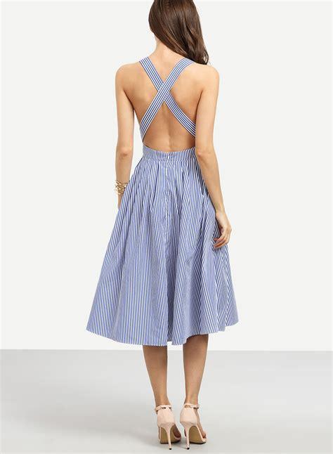 Midi Spaghetti Dress s spaghetti cross back striped midi dresses