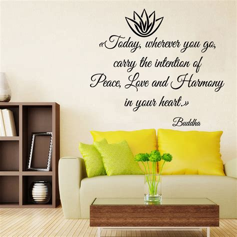 buddha wall decal lotus wall decals buddha quotes peace harmony in