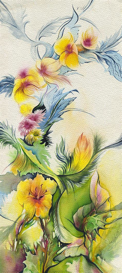 937 Abstract And Flower Dress Import Abstract Flower Painting Original From Olgasternyk On Etsy
