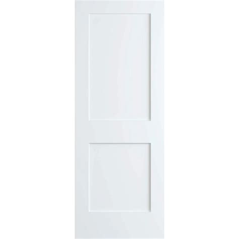 bay 28 in x 80 in white 2 panel shaker solid