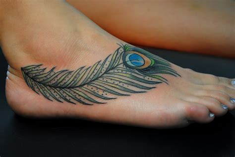 feather tattoo on your foot feather foot tattoo