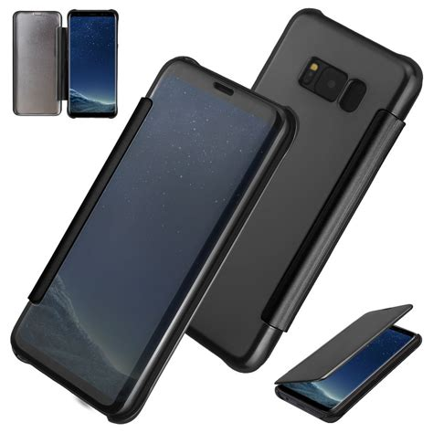 Samsung Galaxy Note 8 Casing Flip Cover Mirror Autolock mirror smart view clear flip cover for samsung galaxy note 8 maxipro europe