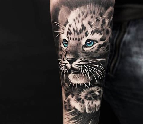 snow leopard tattoo by cox tattoo photo no 20328