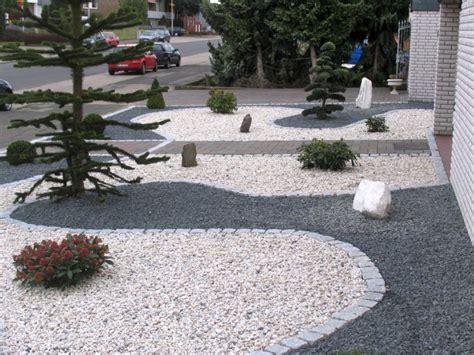 Gravel Gardens Design Ideas Vorgarten Mit Hellem Und Dunklem Splitt Fertig