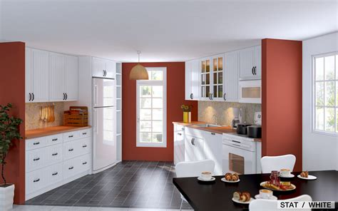 kitchen red line accent coloring for small kitchen design
