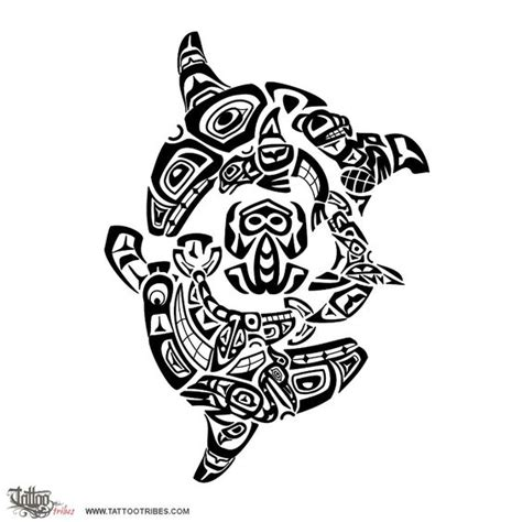 haida tattoo animal meanings haida killer whales family this haida styled tattoo