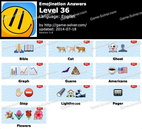 logo level 36 answers emojination level 36 solver