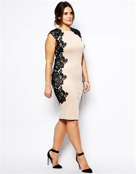 Dress Tille lyst ax plus size bodycon dress with lace panels in