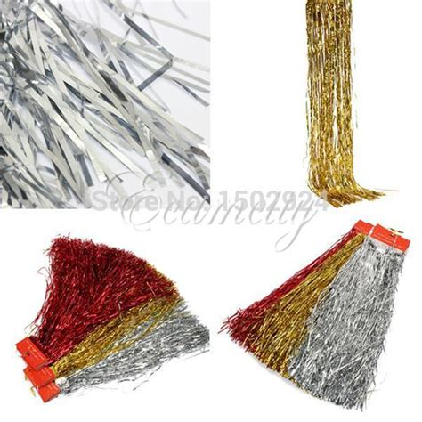 christmas tree tinsel drape 2018 shiny tinsel lametta curtain tree decoration garland ribbon wedding