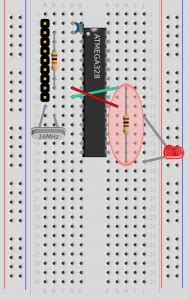 resistor between led and ground blink page 10