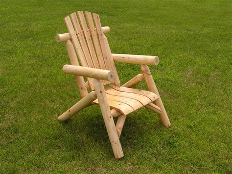white cedar log chair