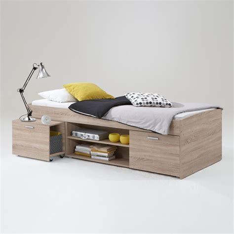 letto singolo letto singolo adhara con cassettoni in essenza rovere