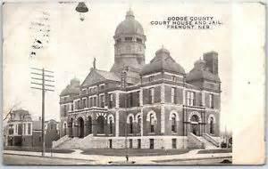 fremont nebraska postcard dodge county court house