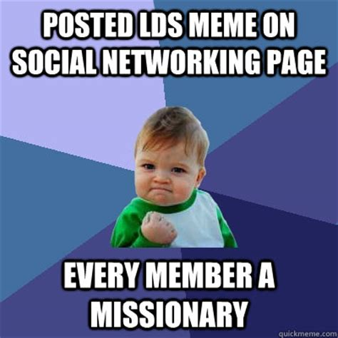 Social Network Meme - posted lds meme on social networking page every member a