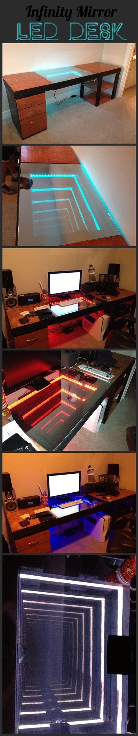 infinity mirror computer desk 1000 images about nerd on pinterest rose tyler time