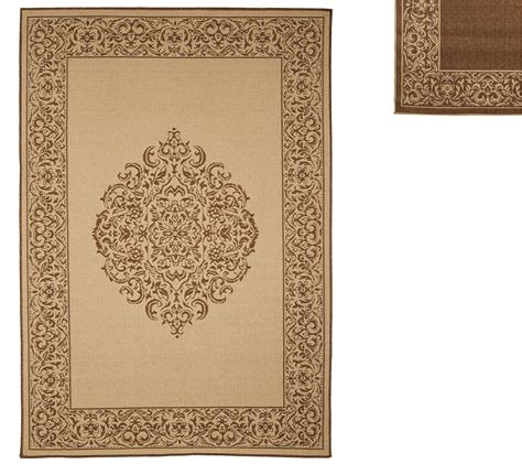 Qvc Outdoor Rugs Veranda Living Naturals Indoor Outdoor 5x7 Medallion Reversible Rug Page 1 Qvc
