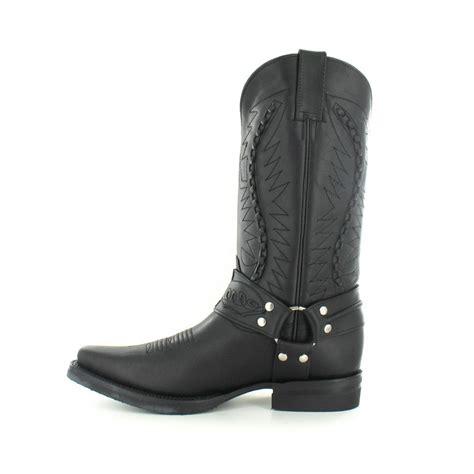 mens leather cowboy boots grinders 105 galveston mens leather cowboy mid calf boots