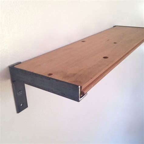wall shelf kitchen shelf reclaimed wood steel