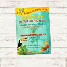 tropical island birthday invitation retro by valeriepullam 13 00