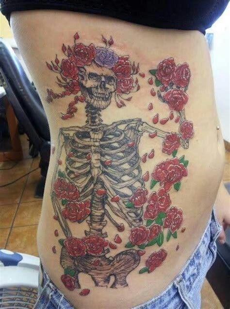 grateful dead tattoos skeleton and roses grateful dead