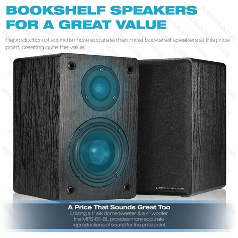 shop new bookshelf speakers pair mediabridge products
