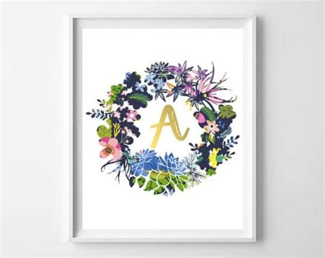 printable alphabet letters for decoration printable wall art