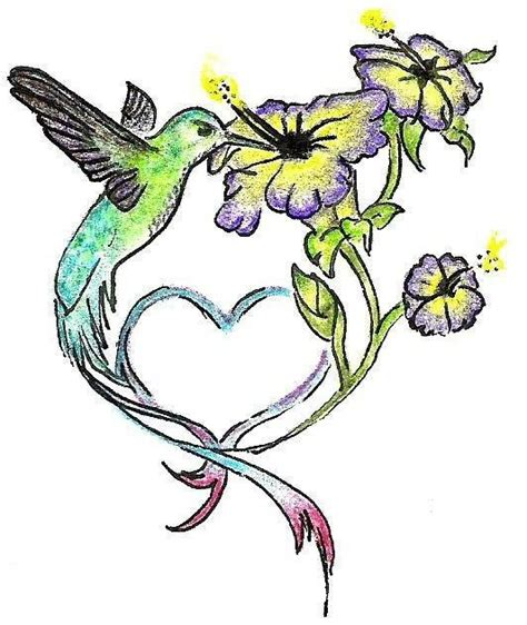 flower and hummingbird tattoo designs hummingbird with flowers design by carrie b t