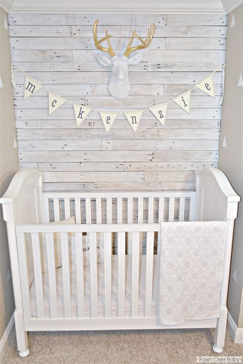 Grey Paint For Bedroom fawn over baby diy white washed pallet wall