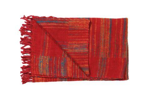 decke rot decke rot gestreift plaids en shawls