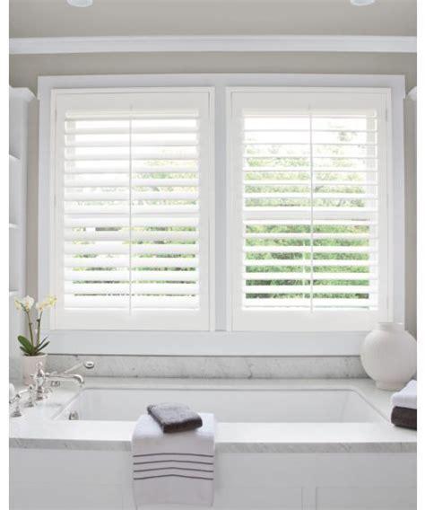 white shutter blinds bathroom strangetowne white