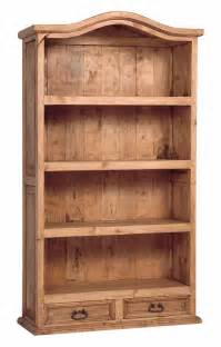 Rustic country pine bookcase tres amigos world imports