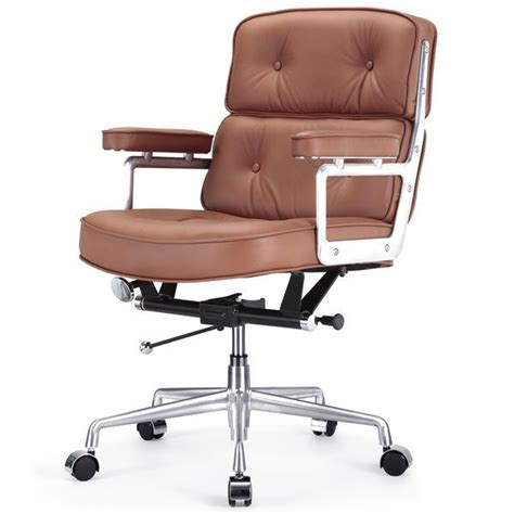 Comfy Sitting Chairs Executive Brown Leather Office Chair For Comfortable Sitting