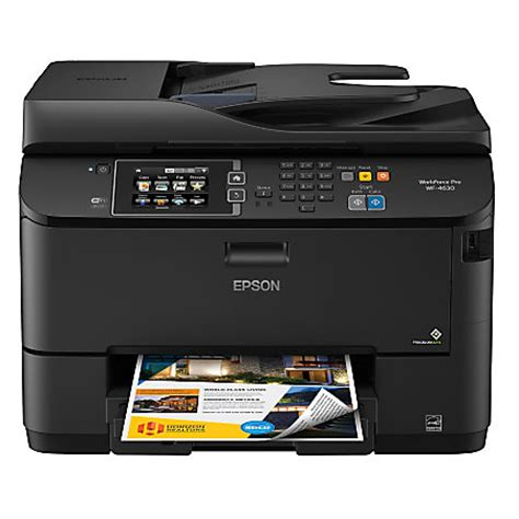 Printer Epson Bisa Fax epson workforce pro wf 4630 wireless color inkjet all in one printer copier scanner fax by