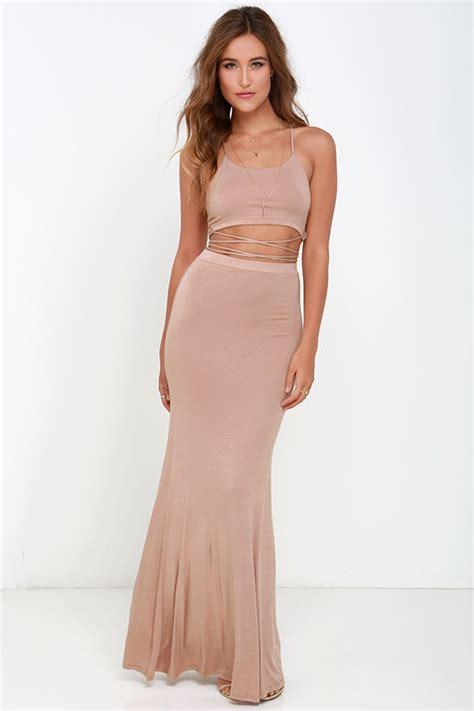 Maxi Dress Tha 4643 taupe dress two dress maxi dress 64 00