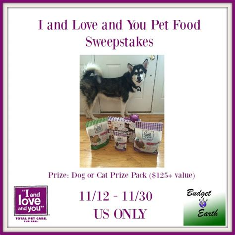Food Sweepstakes - i and love and you pet food sweepstakes life with kathy