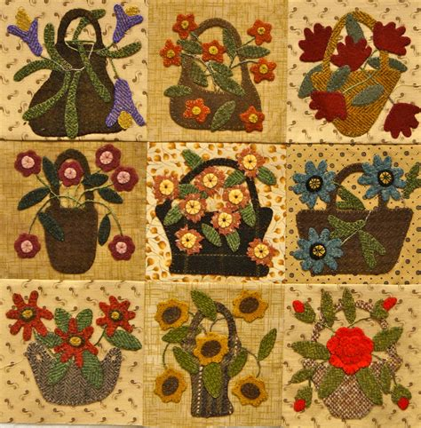 flower design quilt over the hills http diyideastoday tumblr com baskets