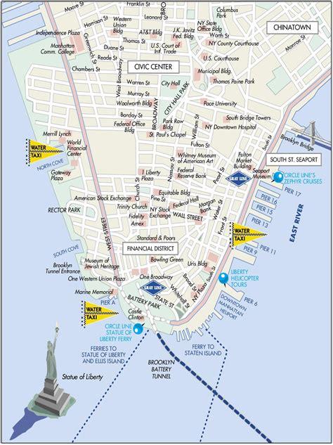 downtown new york map manhattan downtown map