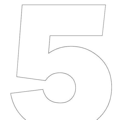 preschool coloring pages number 5 large printable numbers 5 pictures to pin on pinterest