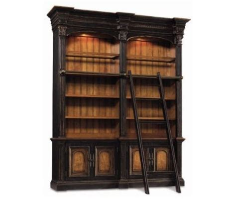 bookcase ladder and rail bookcase with ladder and rail