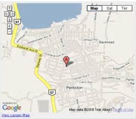 penticton canada map penticton map