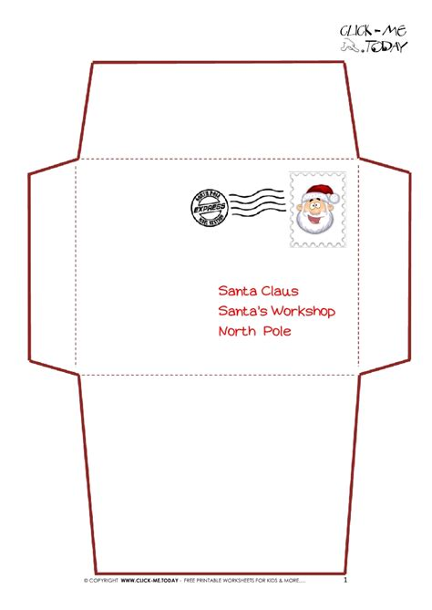 printable card with envelope printable letter to santa claus envelope template simple