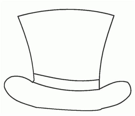 top hat template for snowman hat template printable templates data