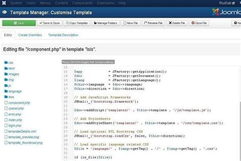 joomla theme integration steps joomla customize template