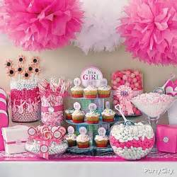 Girl 8 hanging tissue poms plus 3 free baby girl shower ideas baby