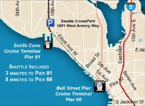 Pier 91 Seattle Map by Seattle Cruisepark Alaskan Cruise Parking For Terminal