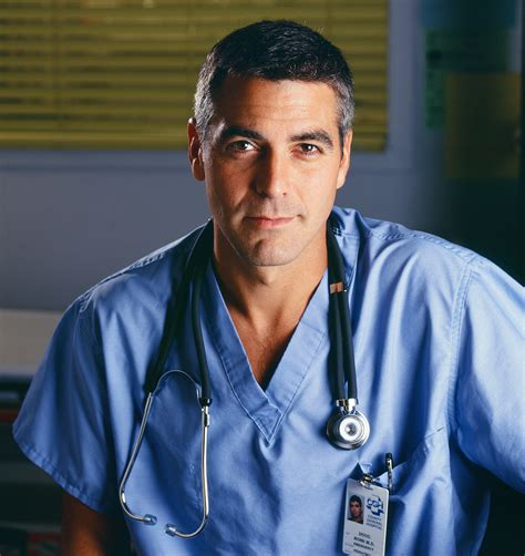 george clooney looked like dr ross for delivery