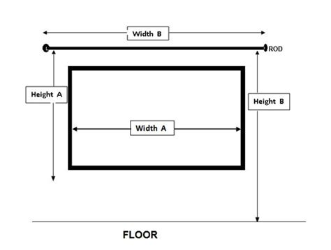 how to measure curtain rod width rod installation diagram gif how to install a drapery rod